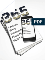 365 LESSONS EVERY SUCCESSFUL PIANO PLAYER MUST KNOW