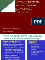 activacion de los linfocitos en ela respuesta inmune.ppt