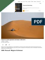 Todos los coches ganadores del Dakar_ 2000-2013