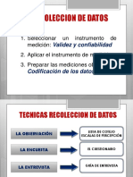 TECNICAS DE RECOLECCIÓN.