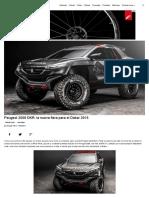 Peugeot 2008 DKR_ la nueva fiera para el Dakar 2015
