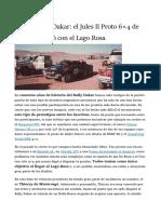 Historias del Dakar  el Jules II Proto 6×4 de 1984 que soñó con el Lago Rosa