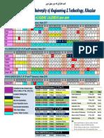 BUETK Academic Calendar 18-19