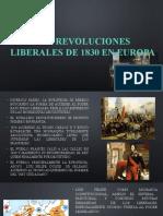 LAS REVOLUCIONES LIBERALES DE 1830 EN EUROPA