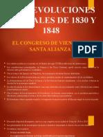 LAS REVOLUCIONES LIBERALES DE 1830 Y 1848