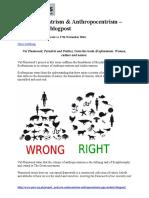 On Androcentrism & Anthropocentrism – PPE student blogpost