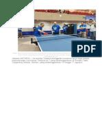 Rektor Universitas Terbuka Prof Ojat Darojat dan Direktur Kemahasiswaan Ditjen Belmawa Kemenristekdikti Dr Didin Wahidin membuka turnamen tenis meja di Universitas Terbuka