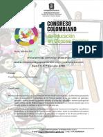 Carta de invitación 1er Congreso Colombiano de Educadores en Ciencias Sociales UPTC