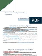 PPT1 Fundamentos de  Investigación  Contabilidad 2010 I Final