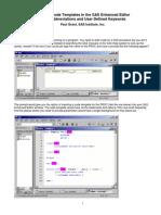 Creating Templates in Enhanced Editor