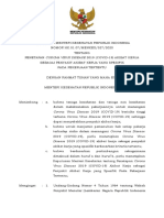 KMK No. HK.01.07-MENKES-327-2020 ttg Penetapan COVID-19 Akibat Kerja Sebagai Penyakit Akibat Kerja Yang Spesifik Pekerjaan Tertentu.pdf