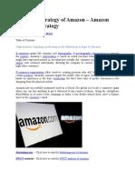 Marketing strategy of Amazon