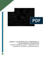 sociologia de la educacion.