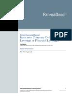 Insurance Company Debt 20