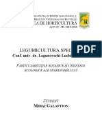 Mihai Galaftion Legumicultura Speciala - Semestrul 2