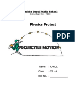 329842190-Project-on-Projectile-Motion