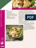 Chicken oyster salad