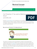 Can Protection CT be used as Metering CT & Vice Versa_ _ Electrical Concepts