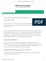 Accuracy Class of Current Transformer_Electrical Concepts