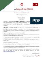 Regulamento FaçaLáUmPoema_BESAF2011