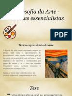 Teorias Essencialistas - Filosofia Da Arte_11K _Inês Ferreira, Bourgiba