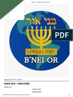 PARTE XIII - CONCLUSÃO __ Beit B'nei Or