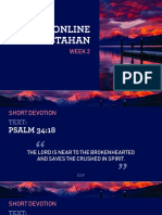 ONLINE KUMUSTAHAN-WEEK 2 Devotion