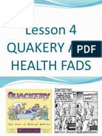 Health 1stGP - Quackery