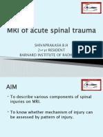 MRI of Acute Spinal Trauma