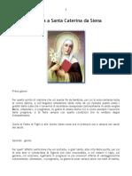 Novena a Santa Caterina Da Siena