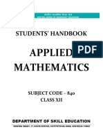Applied Mathematics (Class XII)