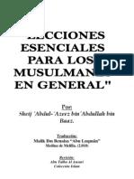 Lecciones Esenciales Para Los Musulmanes en General.