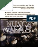 Informe de Mision Quebeco Canadiense Sobre DDHH en Chile