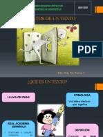 Elementos de Un Texto Diapositivas
