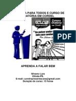 Curso de Oratoria e Oratória Em Cordel - Por Silvano-Lyra - 11 Junho 2020