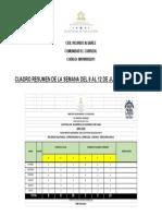 CUADRO RESUMEN SEMANA DEL 8 AL 12 DE JUNIO 2020