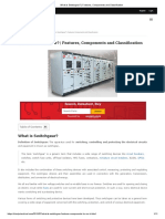 What is Switchgear_ _ Features, Components and Classification