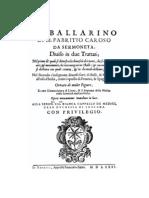 CAROSO, Fabritio • Il ballarino (1581) (facsimile dance & music source)