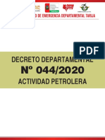 Decreto 44 - Actividad Petrolera