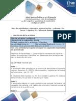 Guia de actividades y Rúbrica de evaluación - Pre - saberes -  Pre Tarea - Logística Vs. Cadena de Suministro