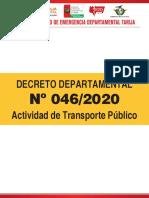 Decreto 46 - Transporte Publico