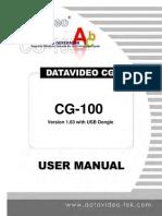 CG-100 Manual