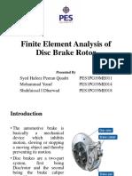 Finite Element Analysis of Disc Brake Rotor