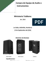 Propuesta de Compra de Equipo de Audio e Instrumentos