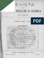 REVISTA da Sociedade Brasileira de Geografia. Tomo LIII. 1946