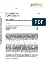 Modeling - plant growth