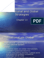 International and Global Strategies