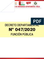 Decreto 47 - Función Pública