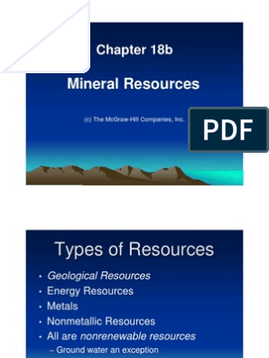 5_18b_ Mineral Resources Ppt | Mining | Rock (Geology)