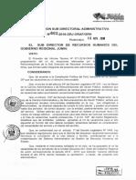 RESOLUCION SUB DIRECTORAL ADMINISTRATIVA N 662-2018-GRJ ORH
